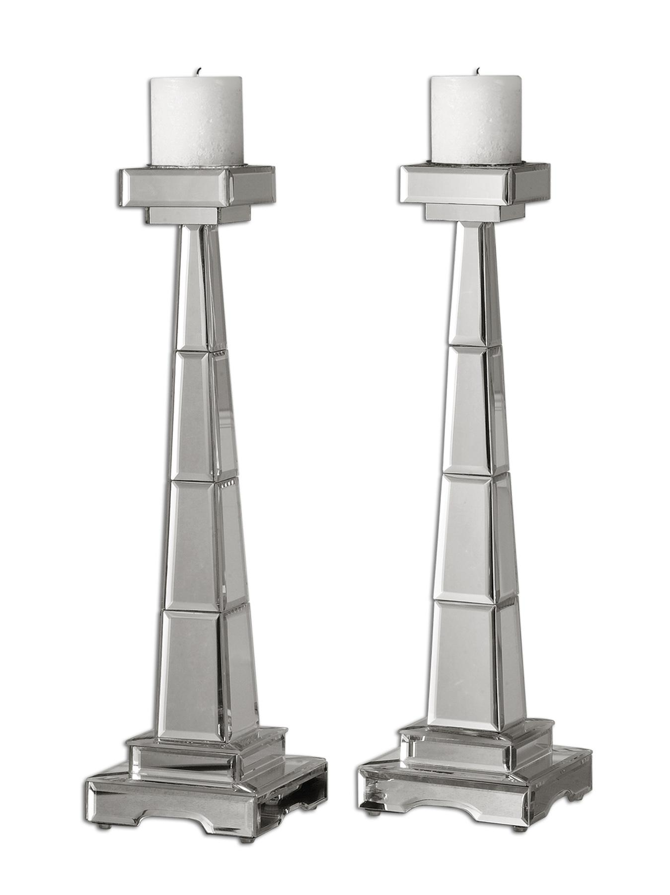 Uttermost Accessories Alanna Candleholders Set of 2 - Item Number: 19597