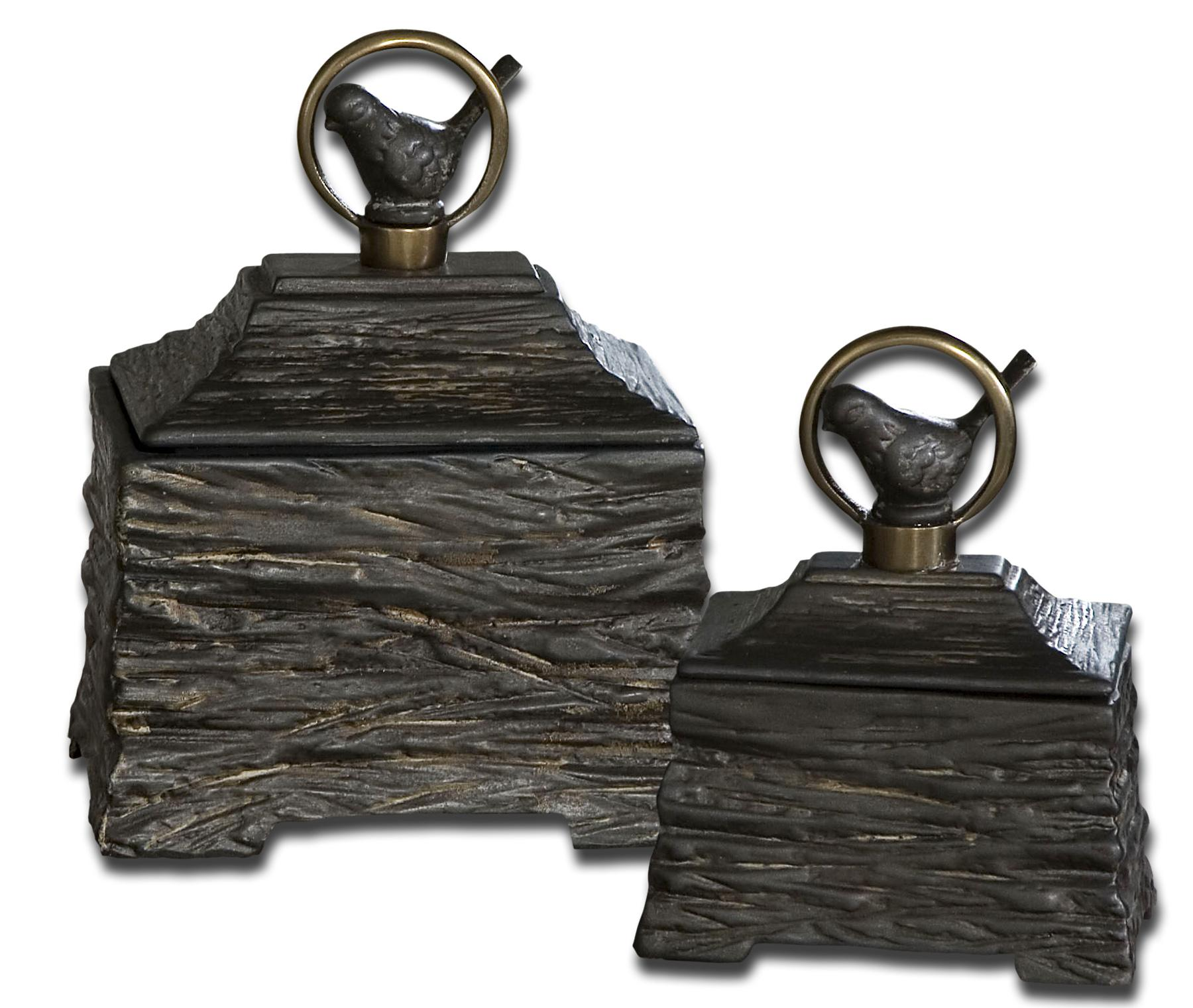 Uttermost Accessories Birdie Boxes Set of 2 - Item Number: 19601