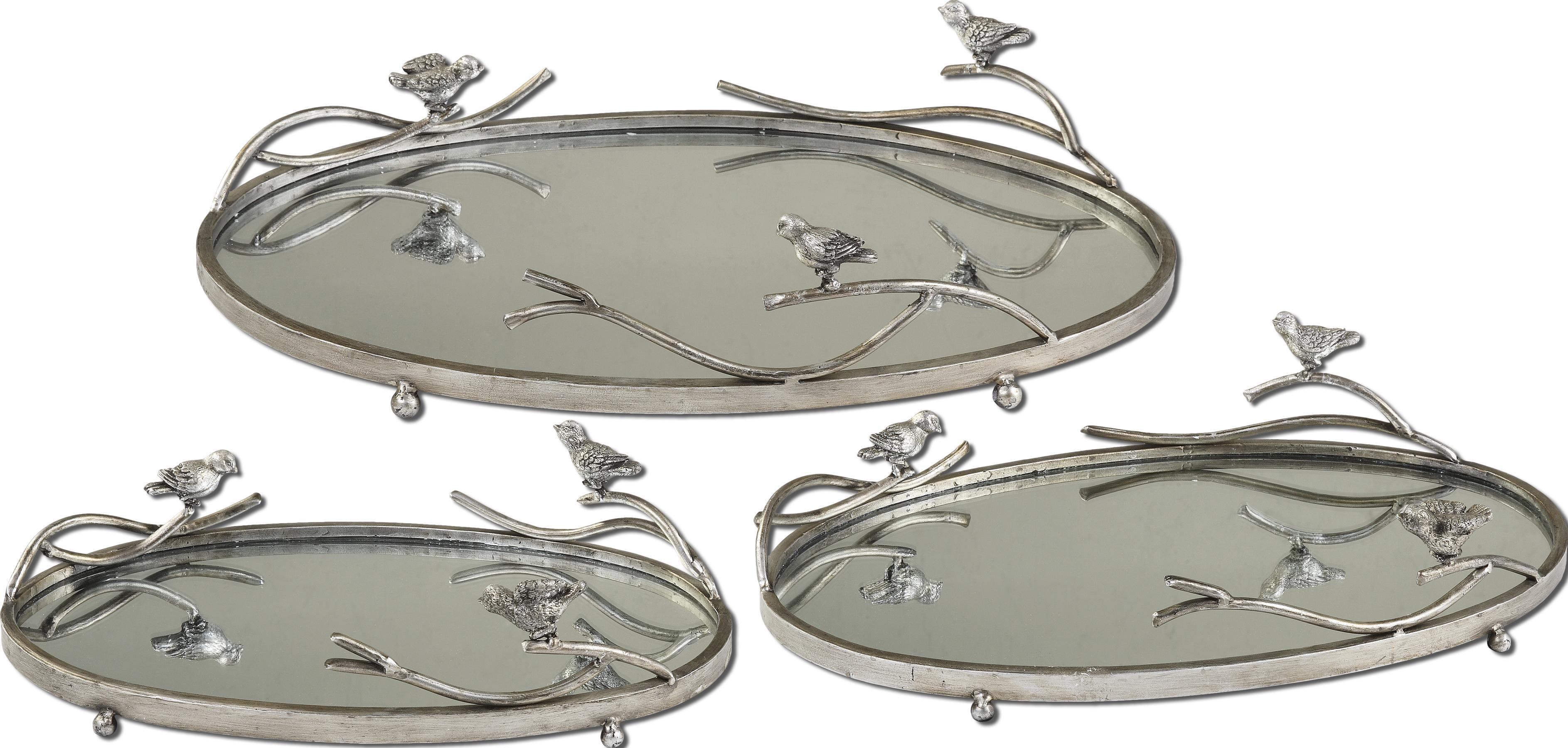Uttermost Accessories Birds On A Limb Trays Set of 3 - Item Number: 19710