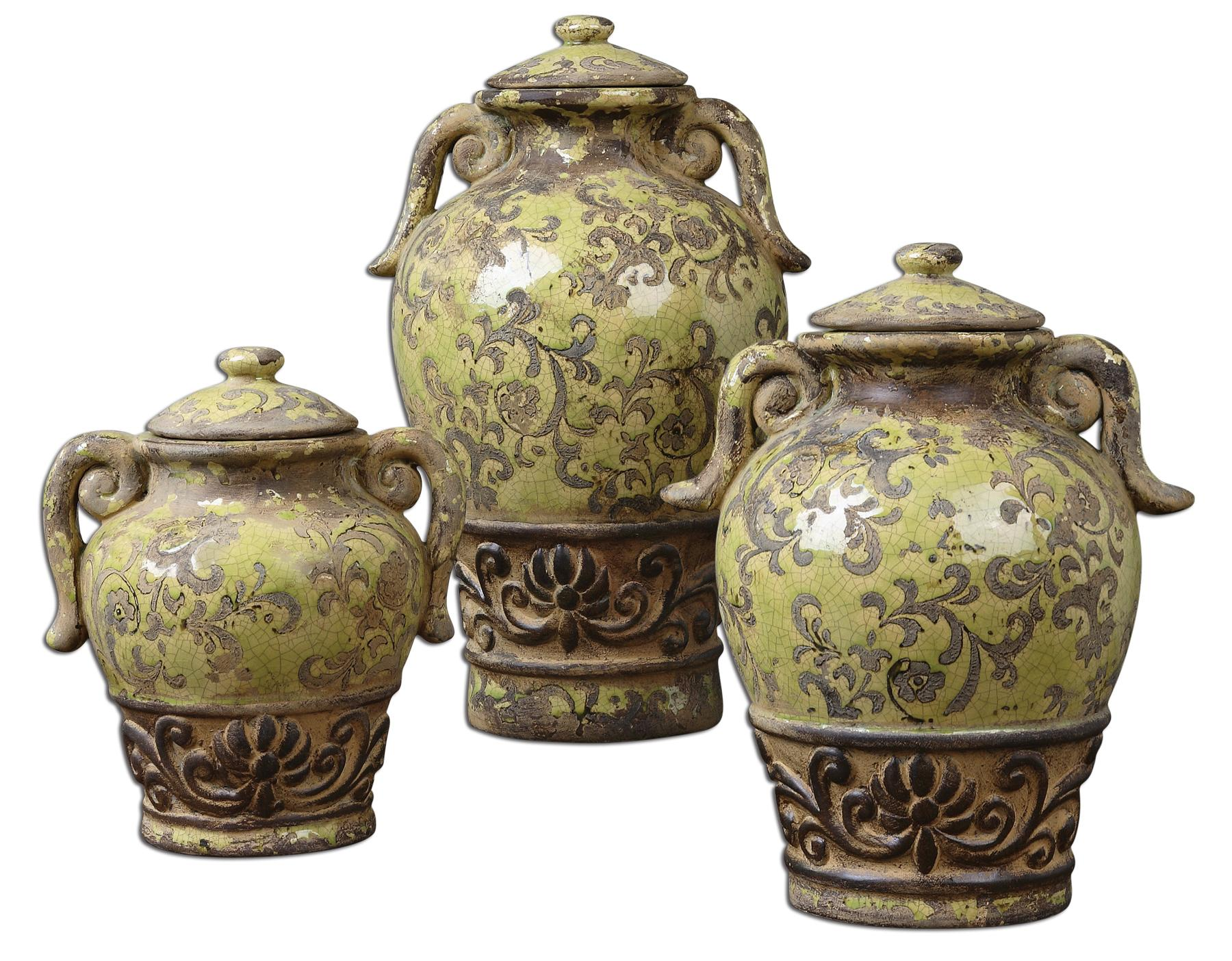 Uttermost Accessories Gian Containers Set of 3 - Item Number: 19716