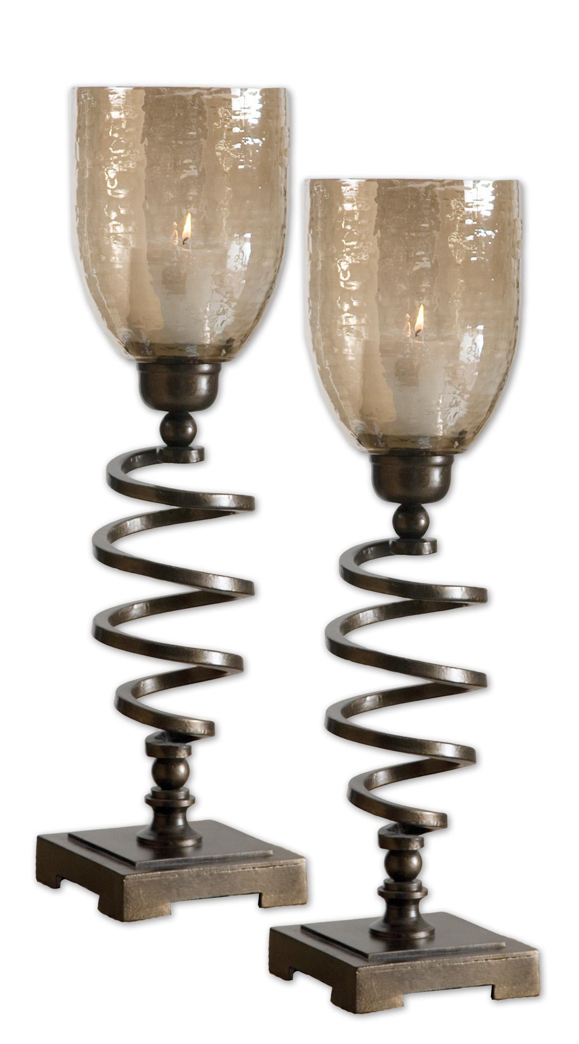 Uttermost Accessories Spiral Twist Set of 2 - Item Number: 19733