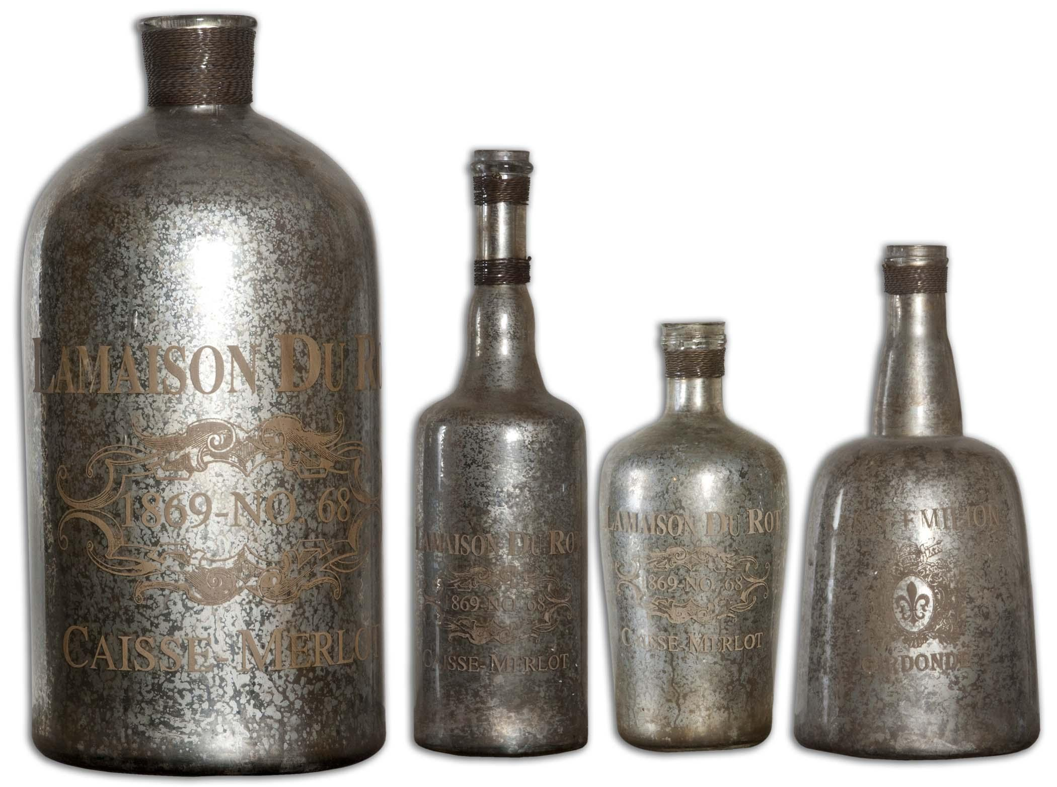 Uttermost Accessories Lamaison Mercury Glass Bottle Large - Item Number: 19752