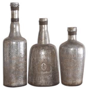 Lamaison Mercury Glass Bottles