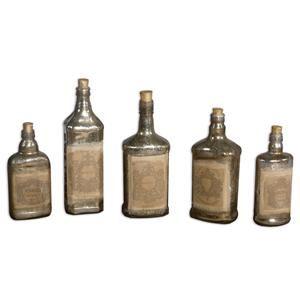 Uttermost Accessories Recycled Bottles Set of 5