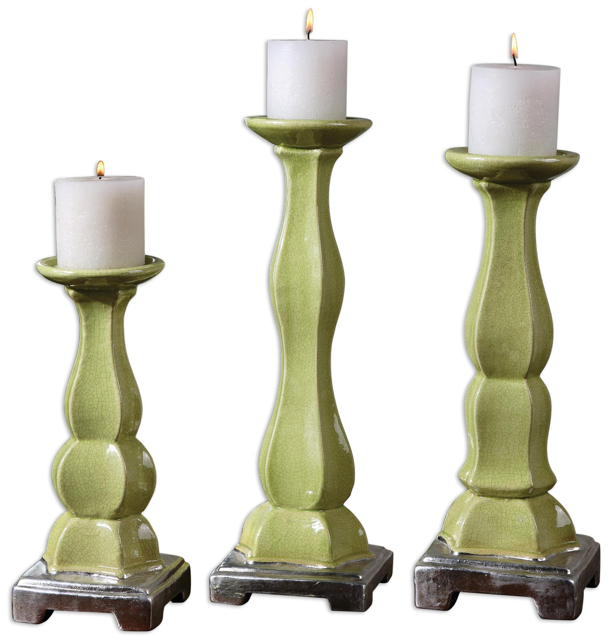 Uttermost Accessories Irwyn Candleholders Set of 3 - Item Number: 19776
