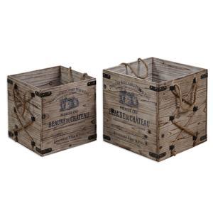 Uttermost Accessories Bouchard Crates Set of 2