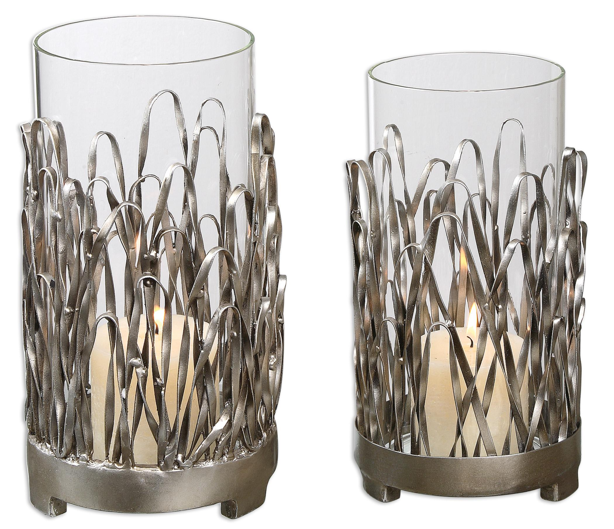 Uttermost Accessories Corbis Candleholders Set of 2 - Item Number: 19784