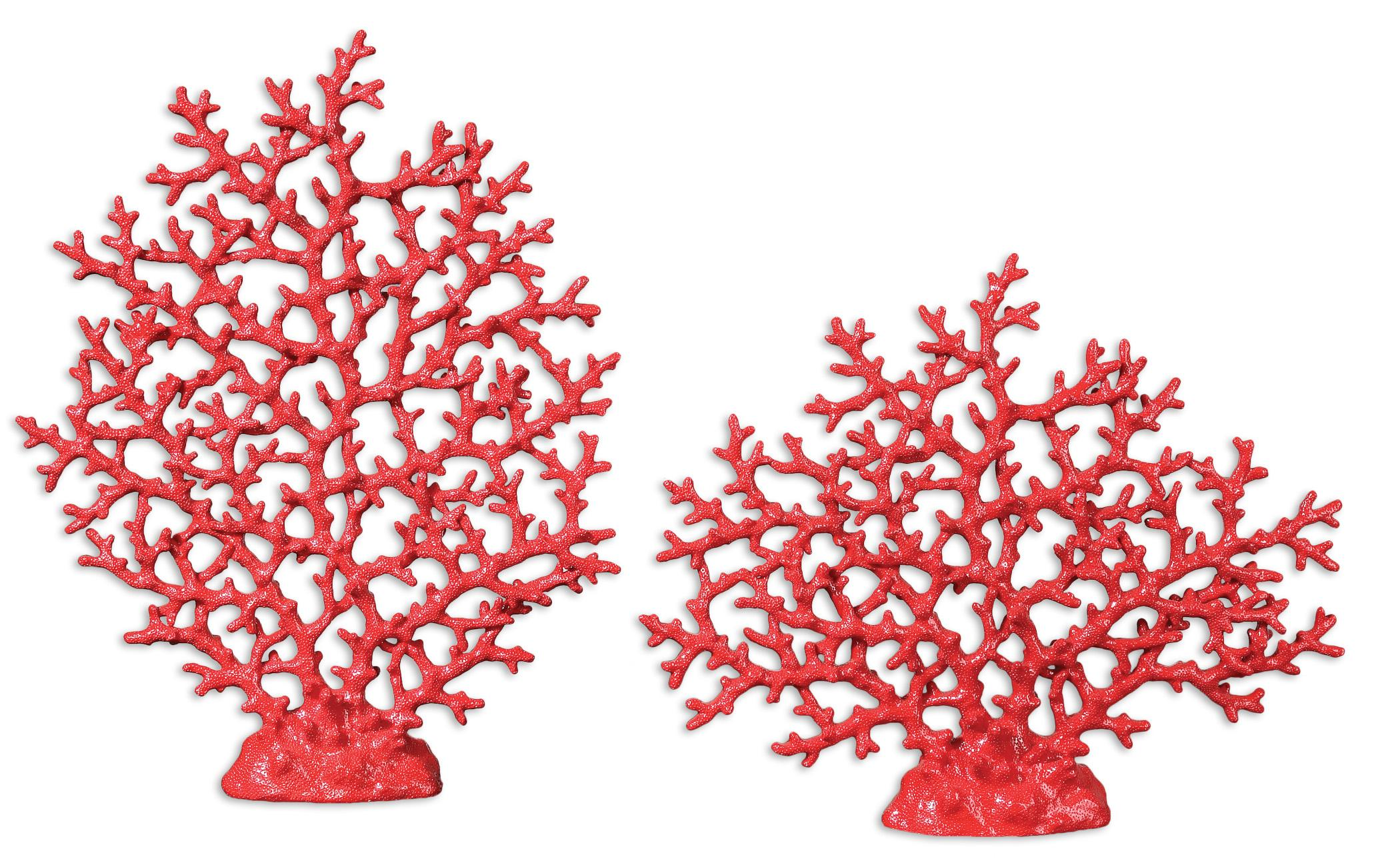Uttermost Accessories Red Coral Sculpture Set of 2 - Item Number: 19801