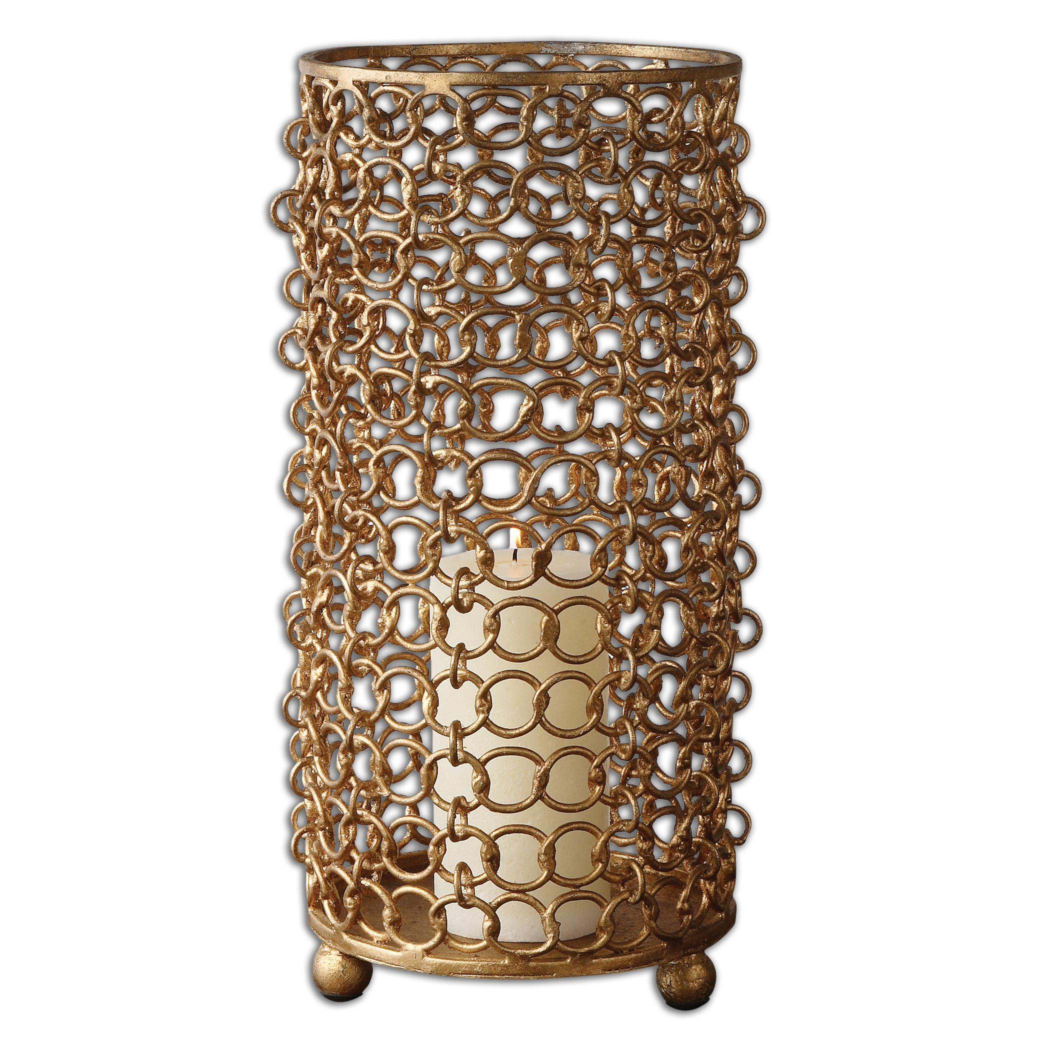 Uttermost Accessories Dipal Gold Candleholder - Item Number: 19806