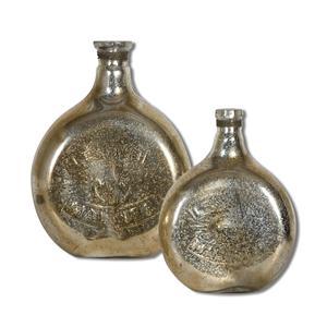Uttermost Accessories Euryl Mercury Glass Vases, Set of  2