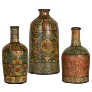 Uttermost Accessories Sachi Terracotta Vases, Set of  3