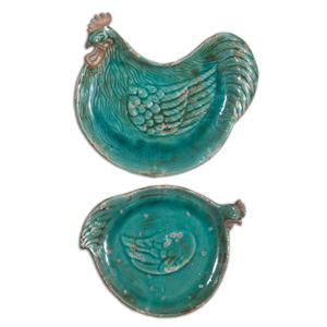 Uttermost Accessories Galiana Ceramic Trays, Set of 2
