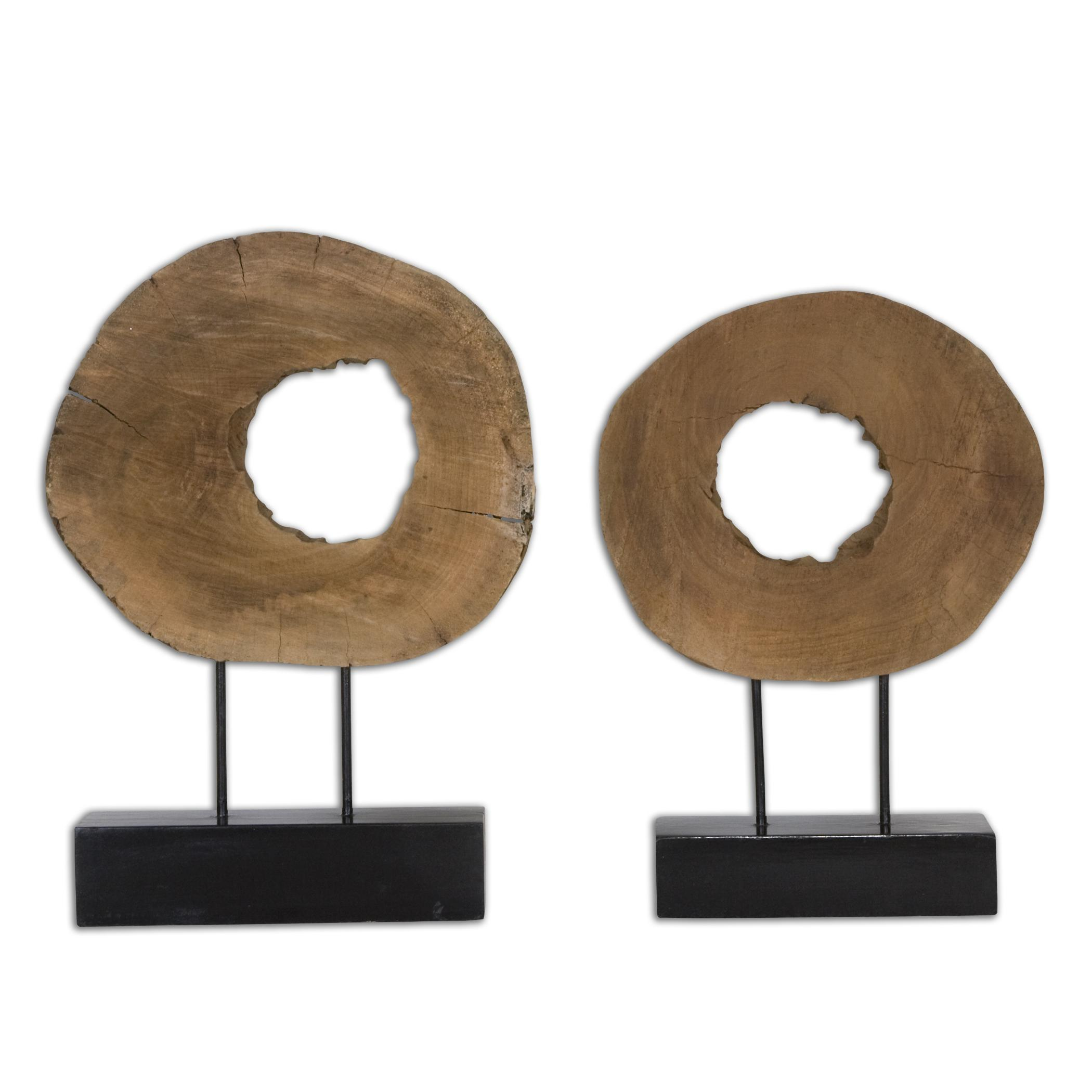 Uttermost Accessories Ashlea Wooden Sculptures Set of 2 - Item Number: 19822