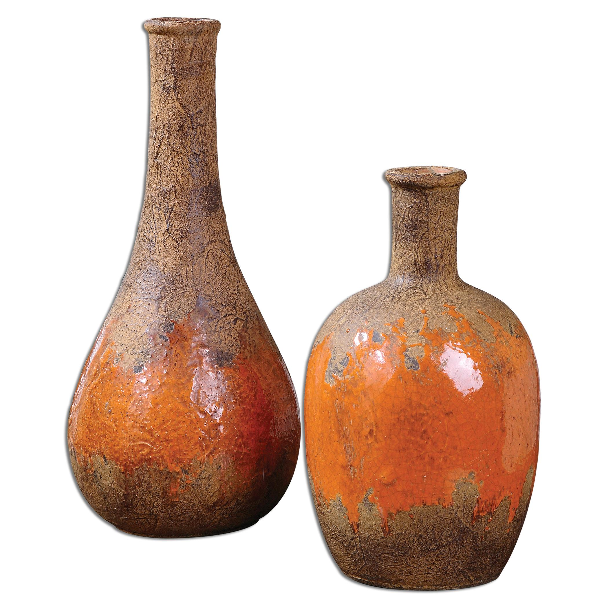 Uttermost Accessories Kadam Ceramic Vases, Set of  2 - Item Number: 19825