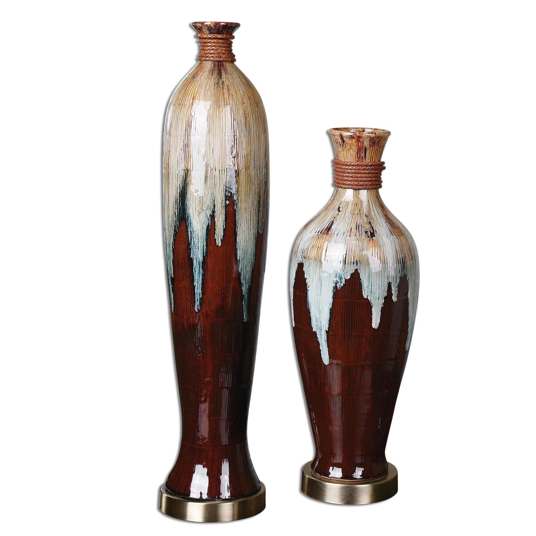 Uttermost Accessories Aegis Ceramic Vases, Set of  2 - Item Number: 19844