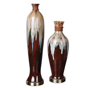 Uttermost Accessories Aegis Ceramic Vases, Set of  2