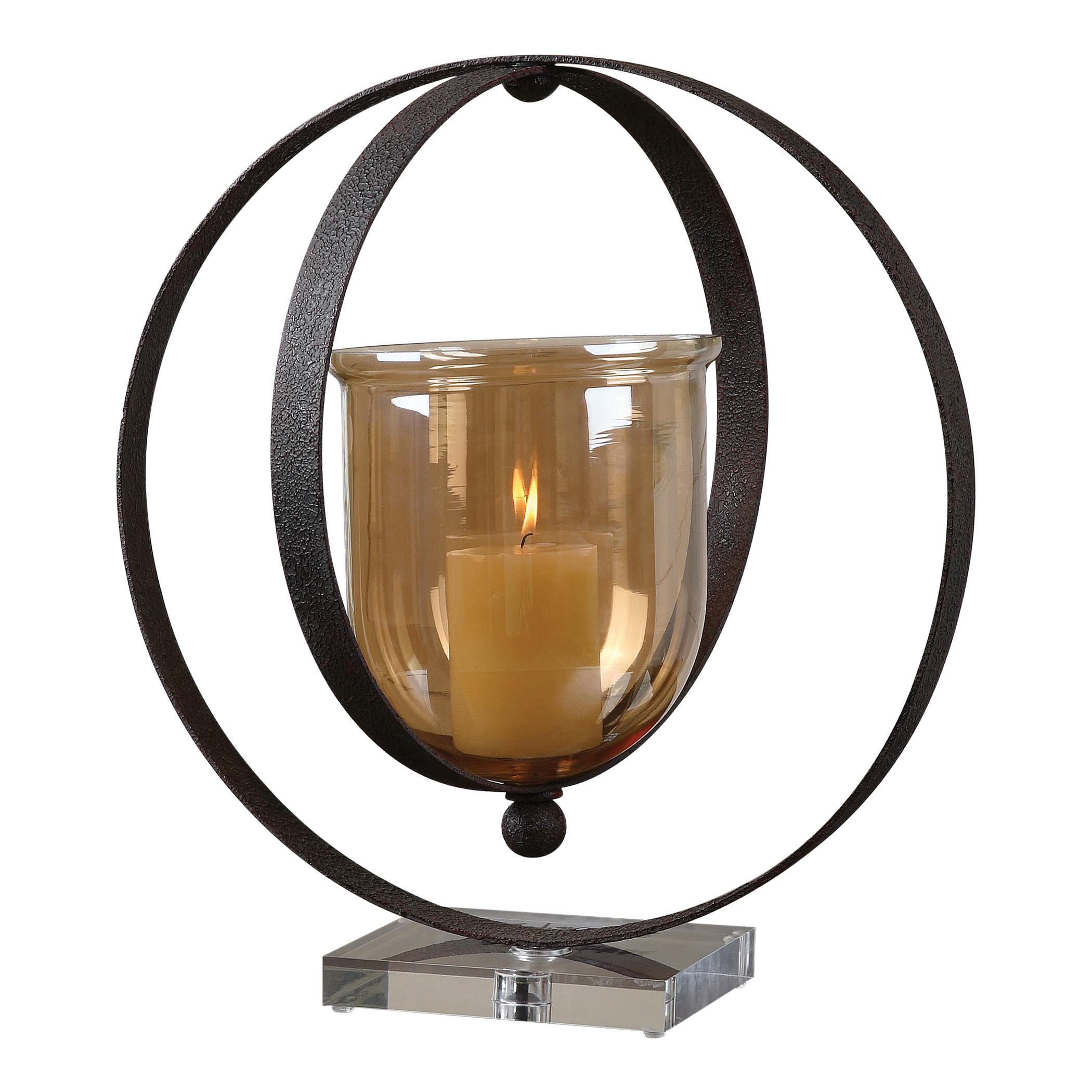 Uttermost Accessories Charon Metal Candleholder - Item Number: 19846