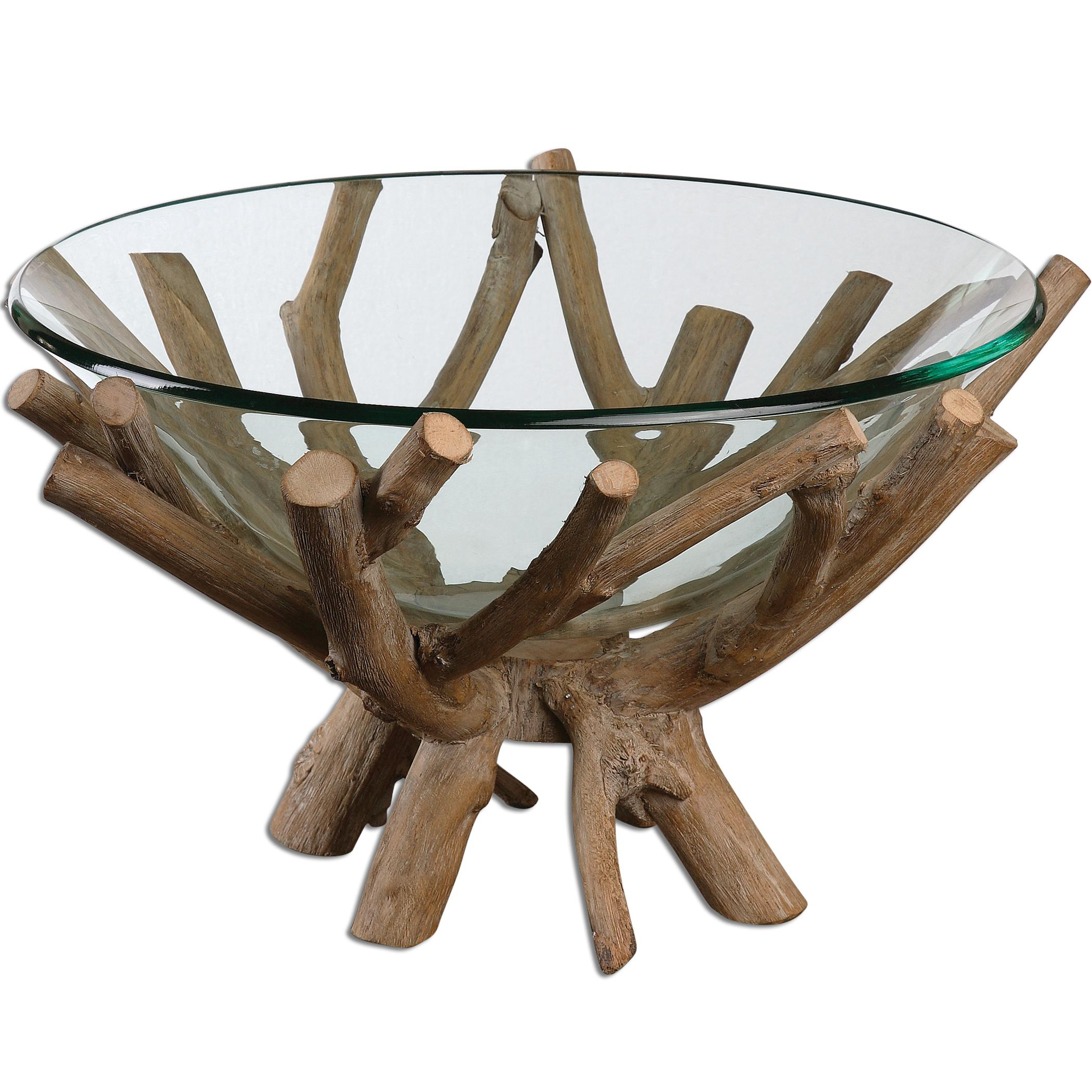 Uttermost Accessories Thoro Wood Bowl - Item Number: 19851