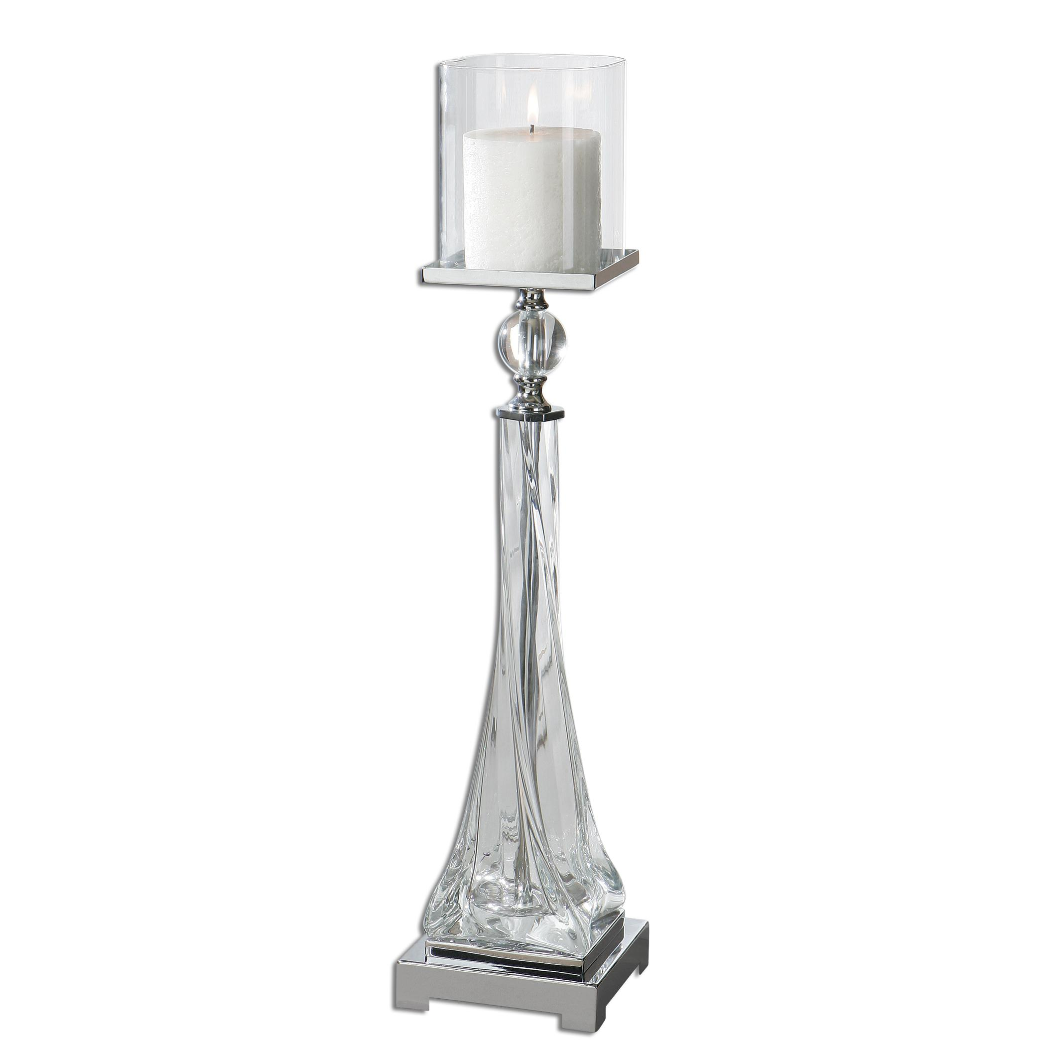 Uttermost Accessories Grancona Glass Candleholder - Item Number: 19852