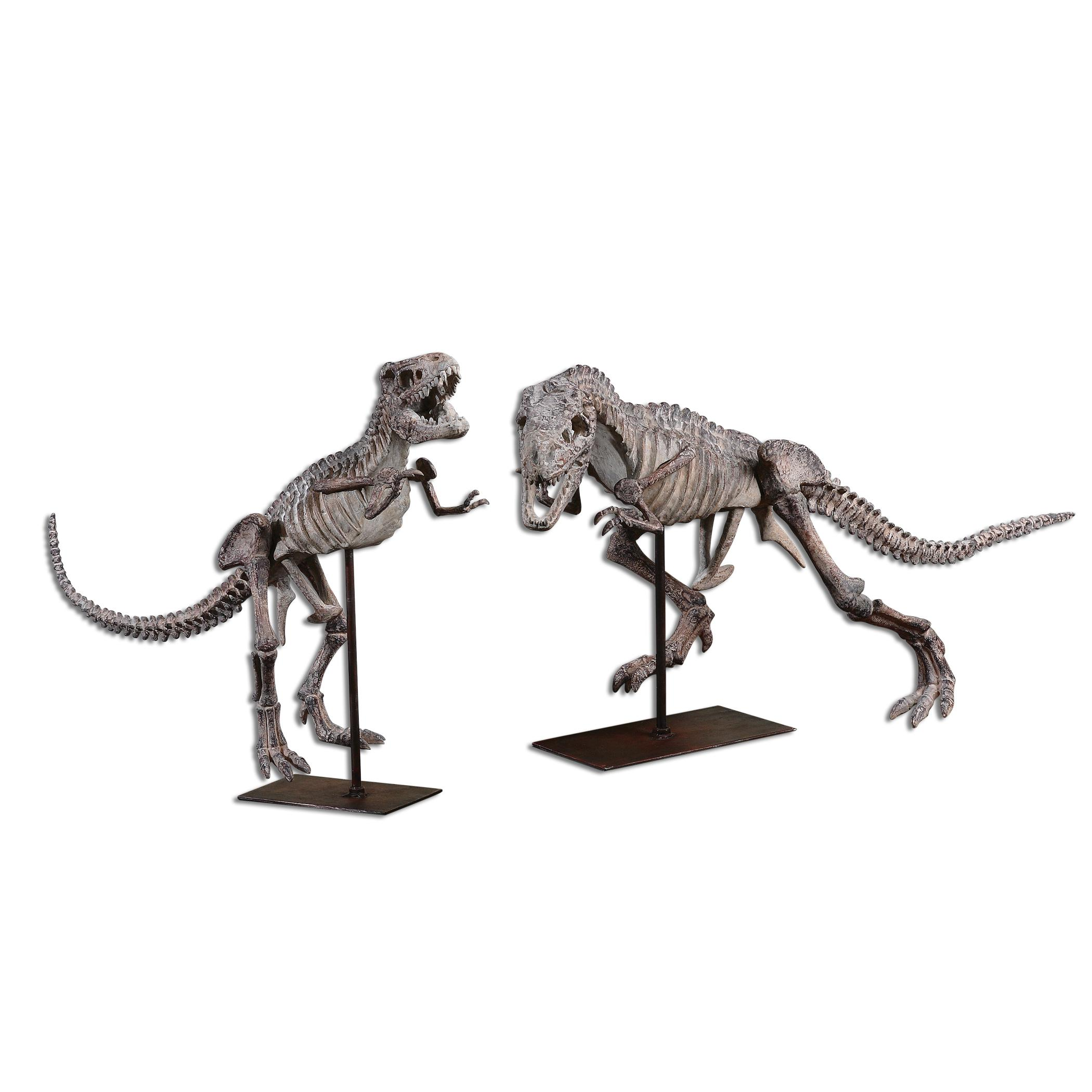 Uttermost Accessories T-Rex Sculptures, Set of  2 - Item Number: 19854