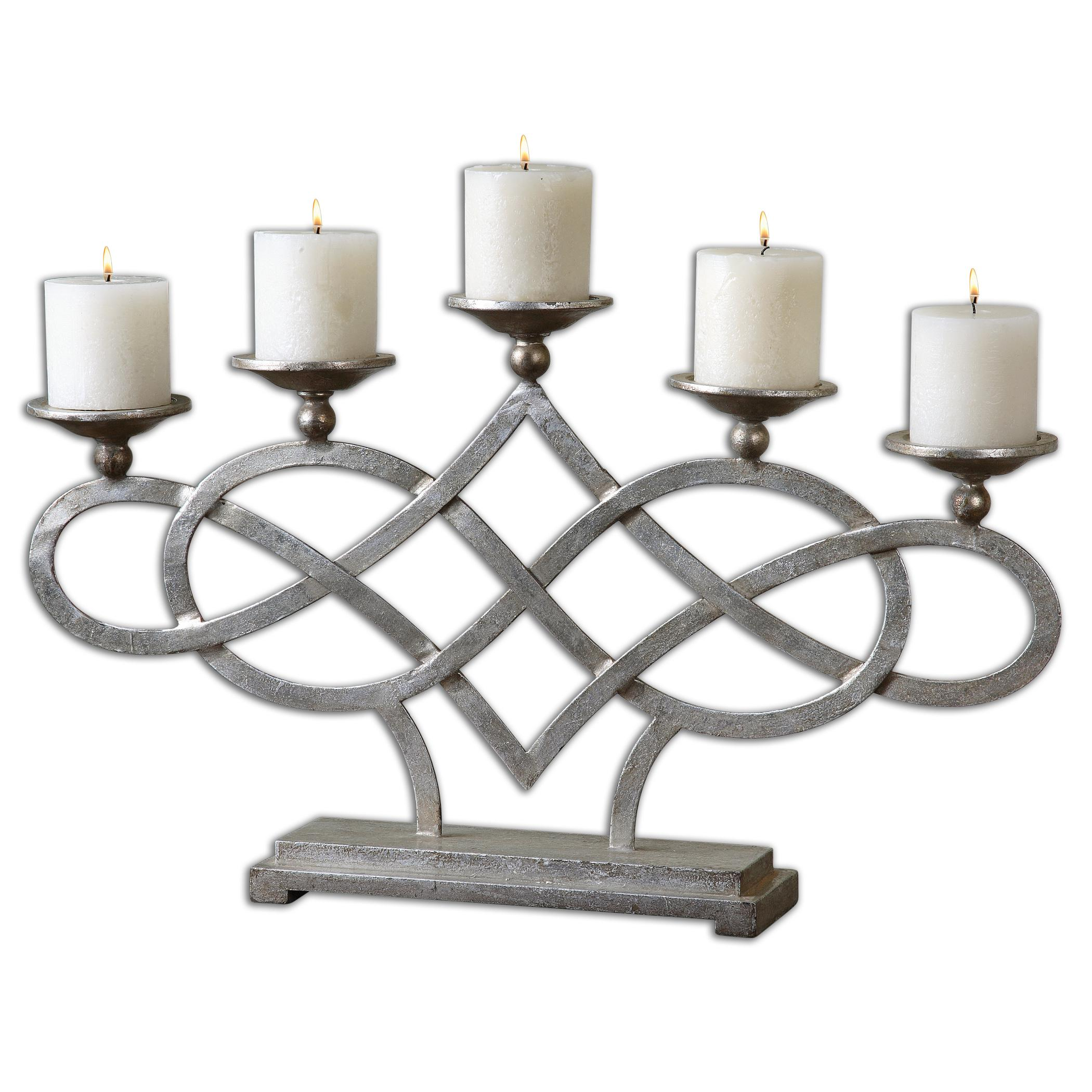 Uttermost Accessories Adala Silver Candleholder - Item Number: 19856