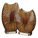 Uttermost Accessories Zarina Marbled Ceramic Vases Set of 2 - Item Number: 19867
