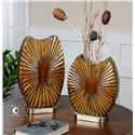 Uttermost Accessories Zarina Marbled Ceramic Vases Set of 2