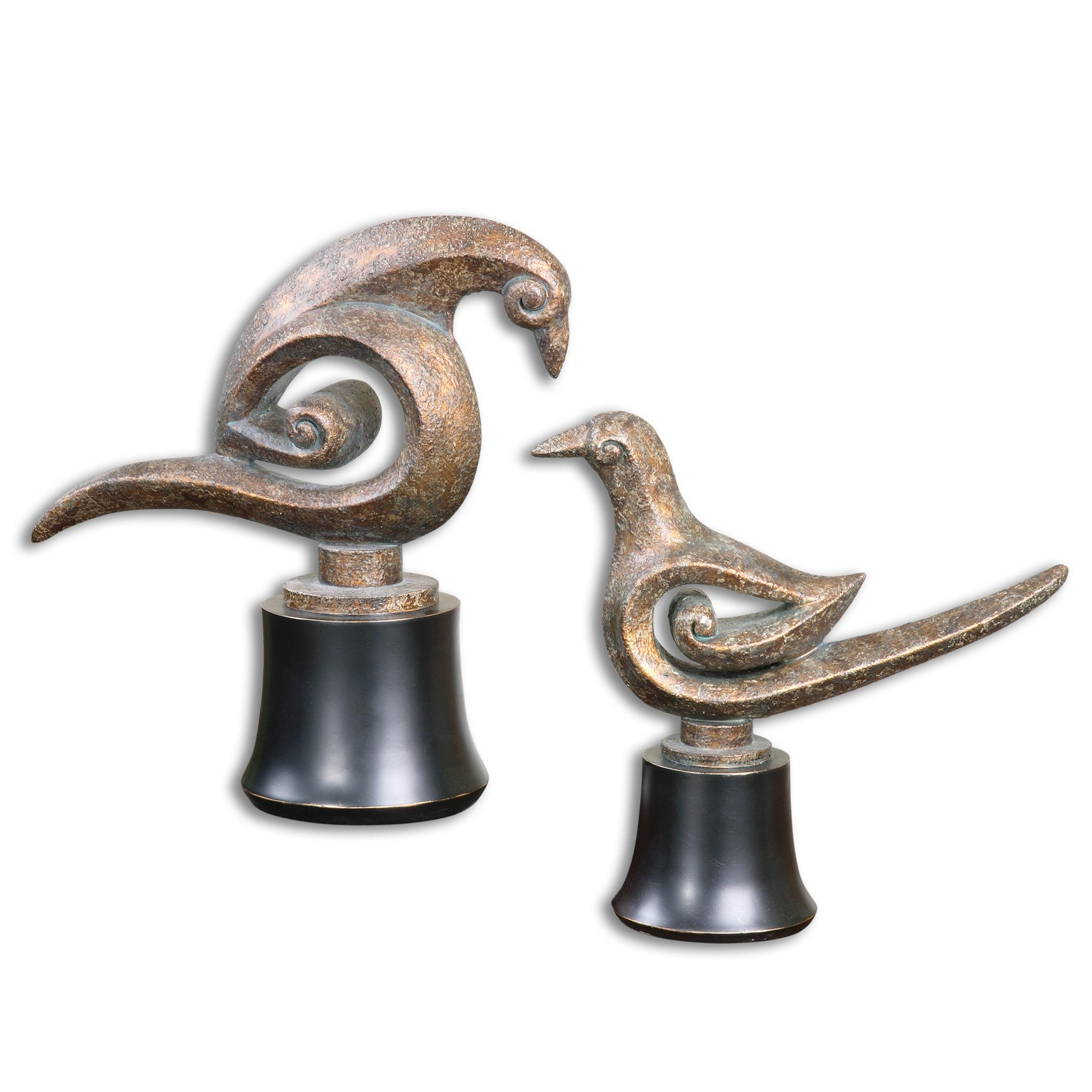 Uttermost Accessories Aram Bird Sculptures Set of 2 - Item Number: 19876
