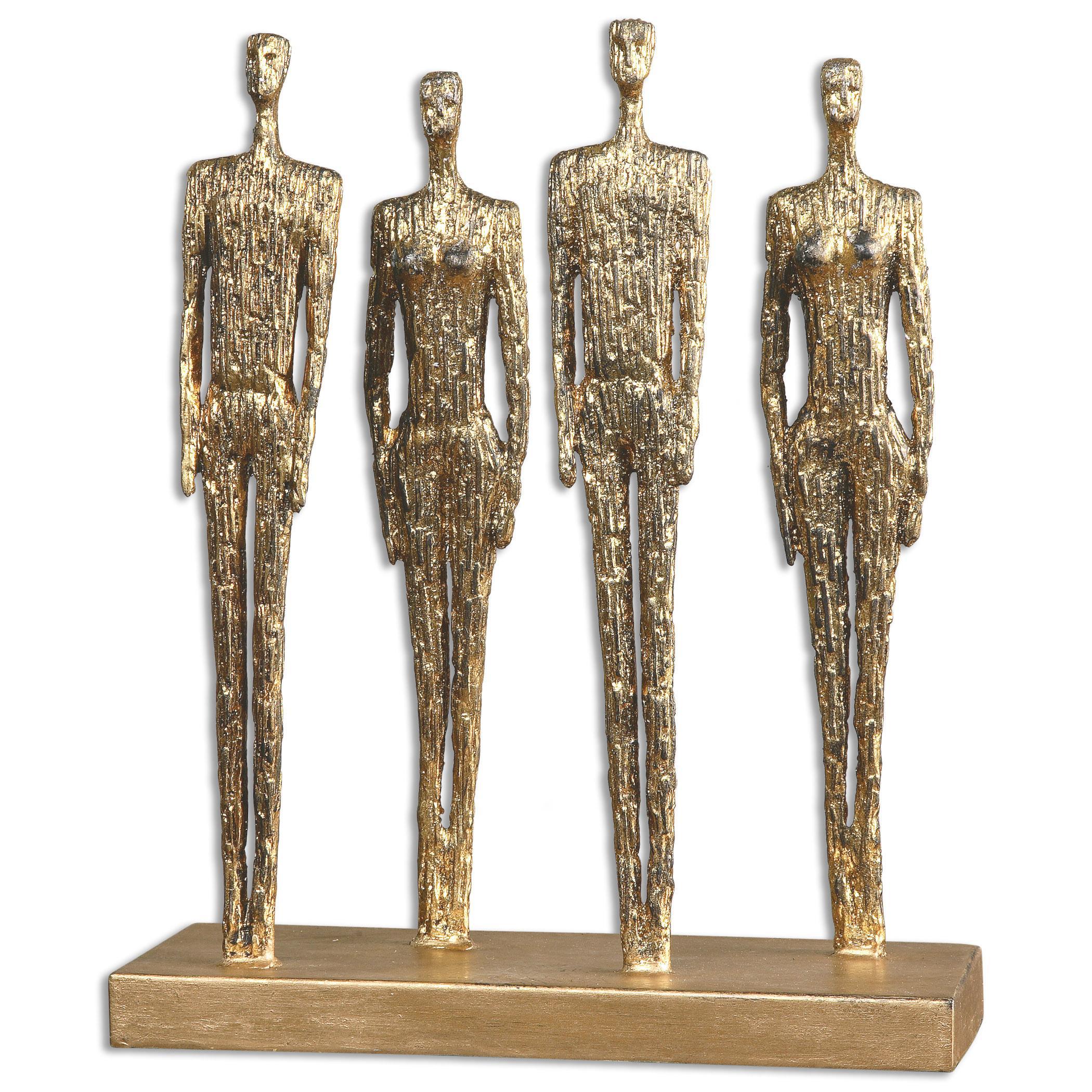 Uttermost Accessories Ten-hut Gold Sculpture - Item Number: 19884