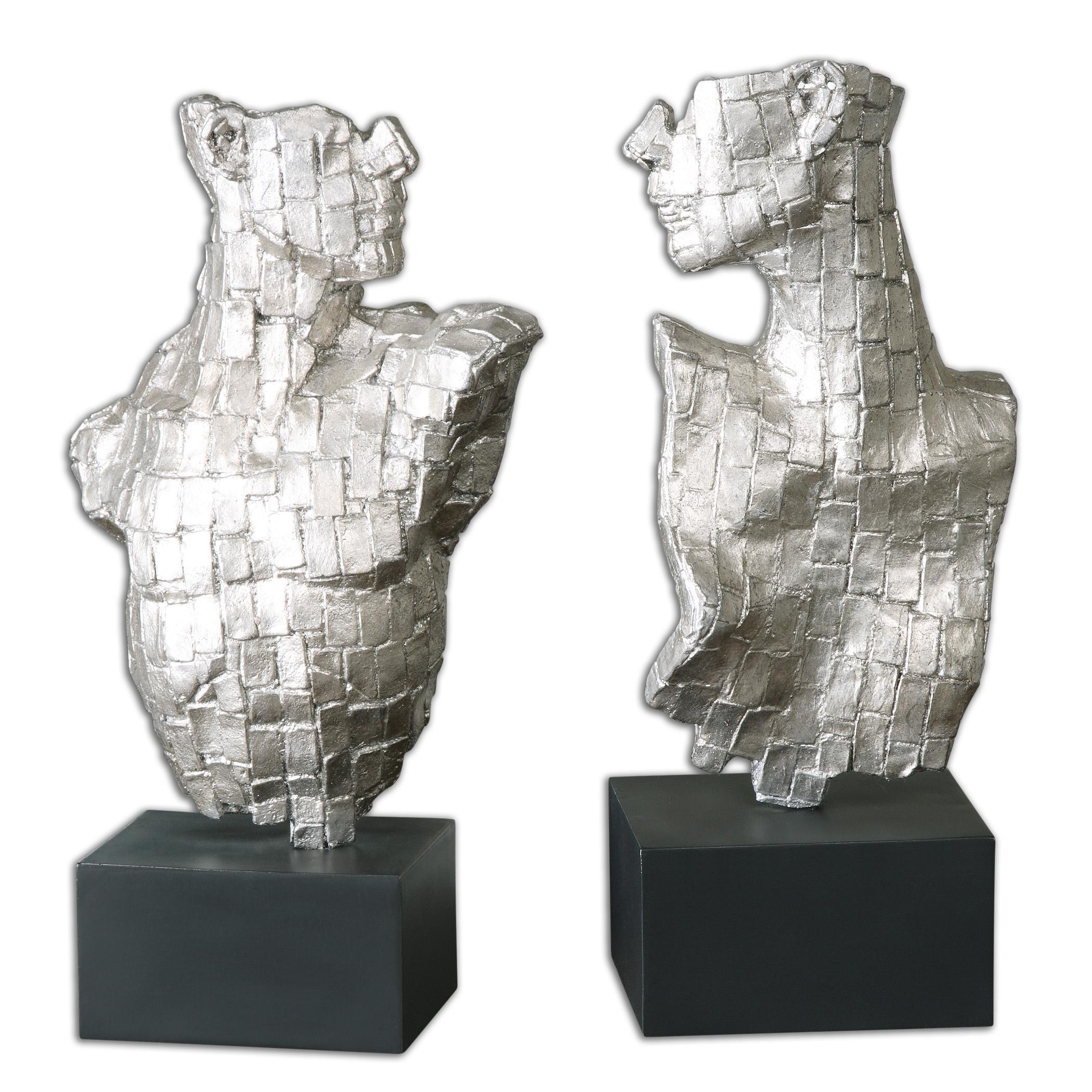 Uttermost Accessories Eros Silver Sculptures Set of 2 - Item Number: 19887