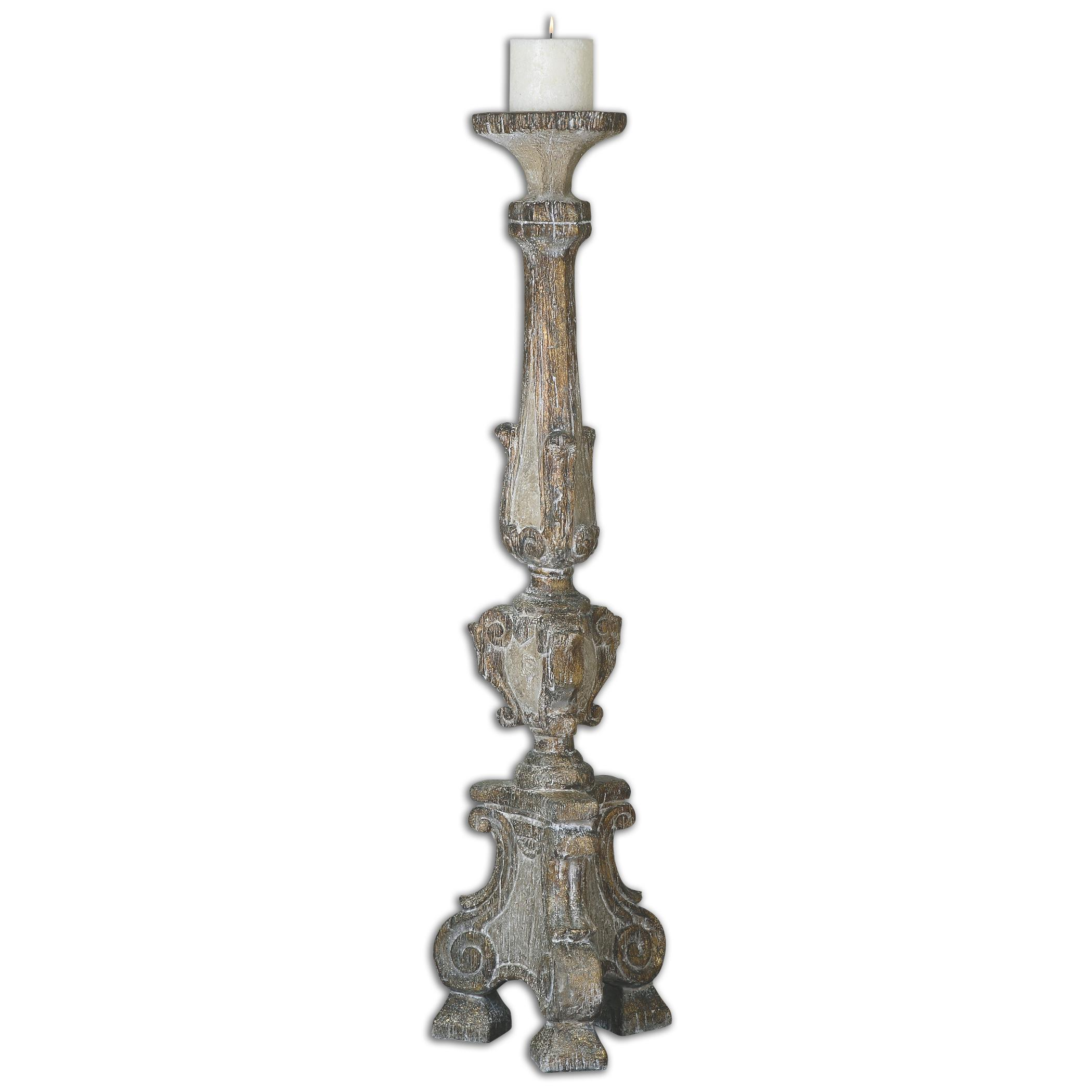 Uttermost Accessories Gillis Large Candleholder - Item Number: 19901