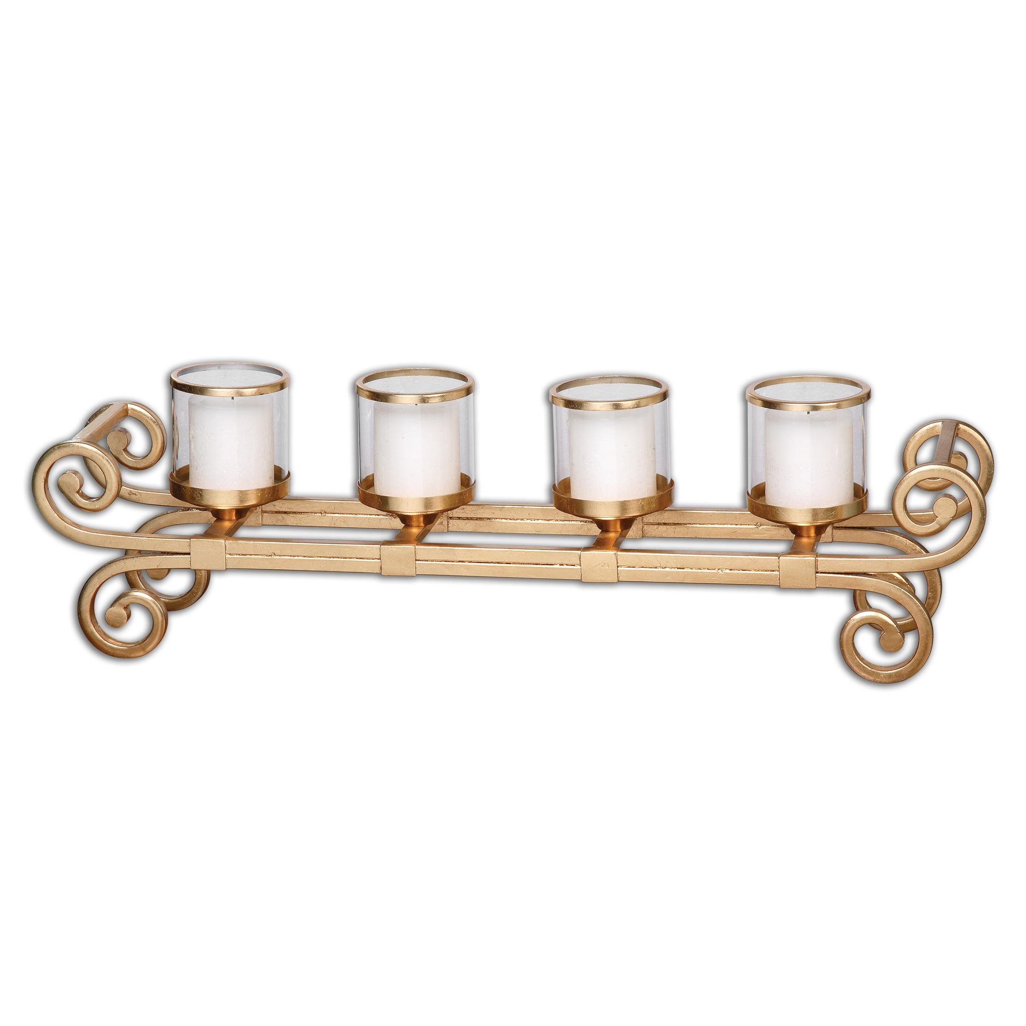 Uttermost Accessories Meron Gold Candelabra - Item Number: 19906
