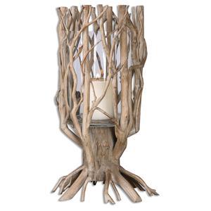 Ugo Natural Wood Candleholder