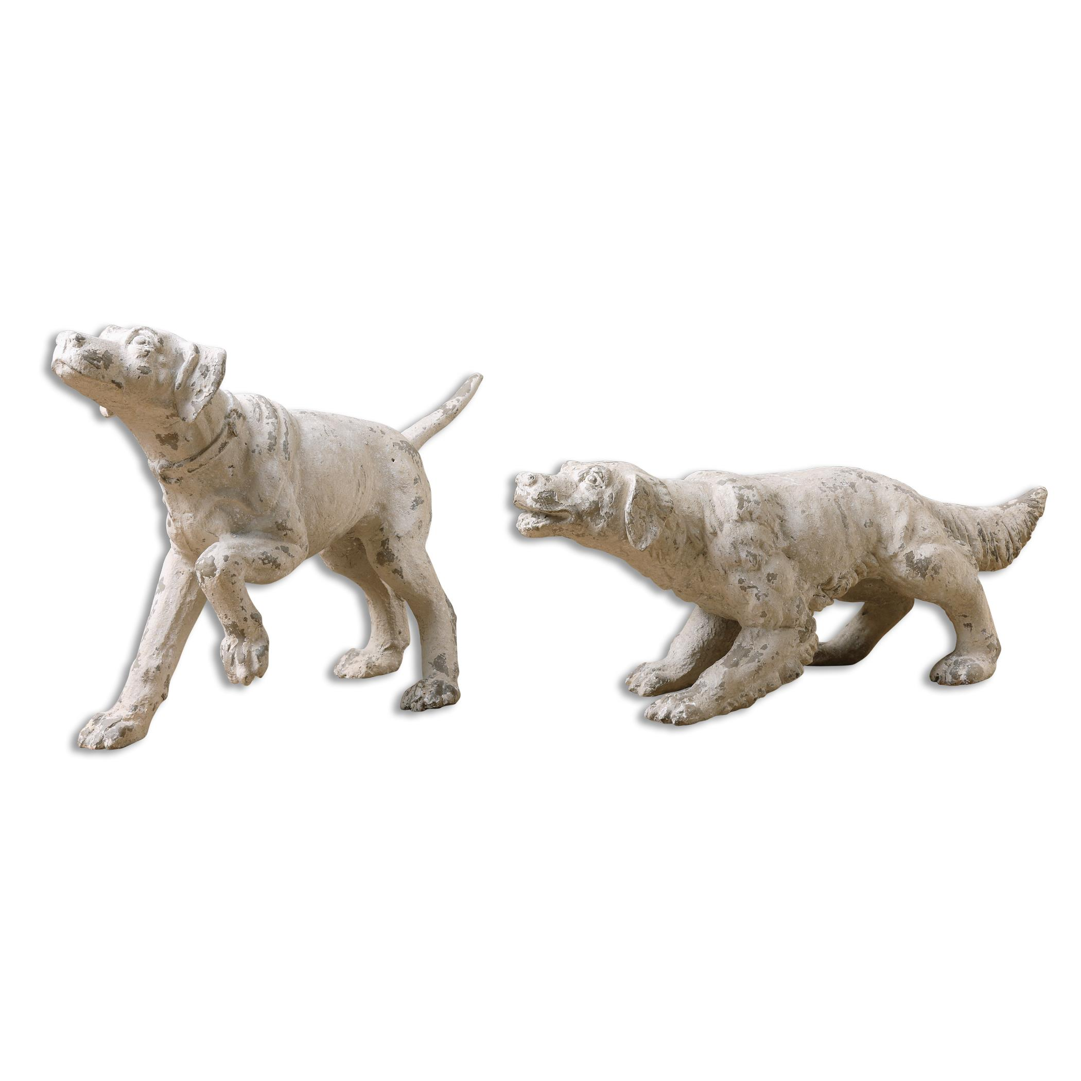 Uttermost Accessories Hudson and Penny Dog Sculptures, S/2 - Item Number: 19920