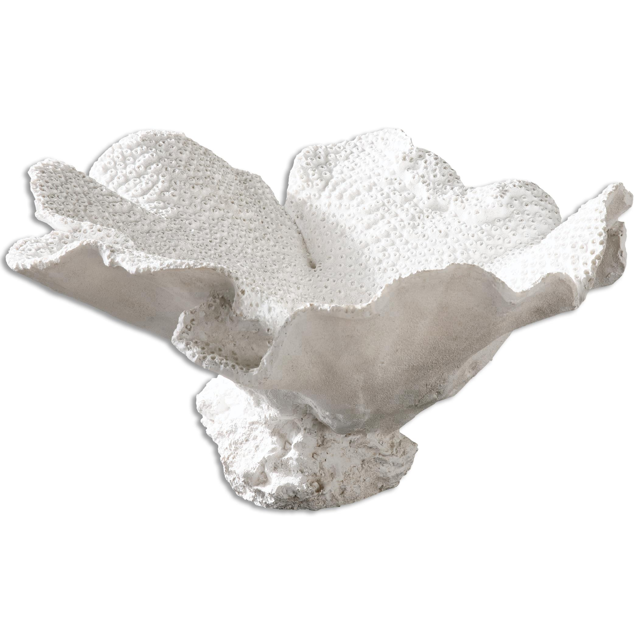 Uttermost Accessories Ali Textured White Bowl - Item Number: 19923