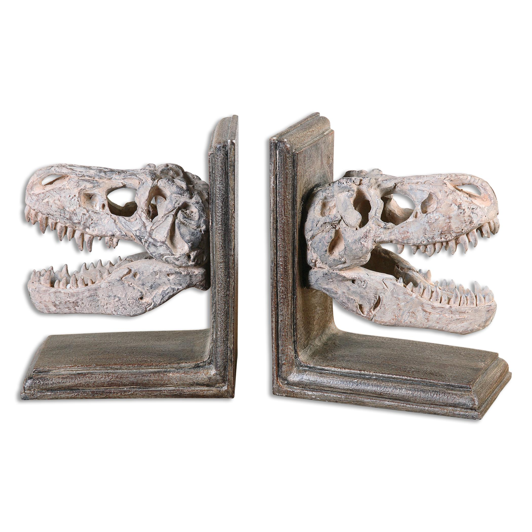 Uttermost Accessories Dinosaur Bookends, S/2 - Item Number: 19924