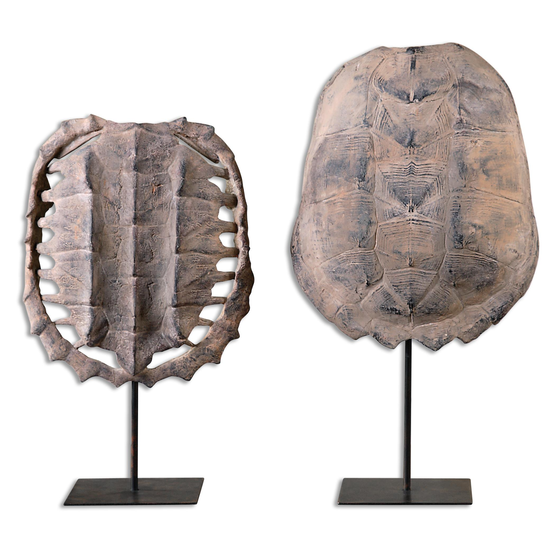 Uttermost Accessories Turtle Shells, S/2 - Item Number: 19925