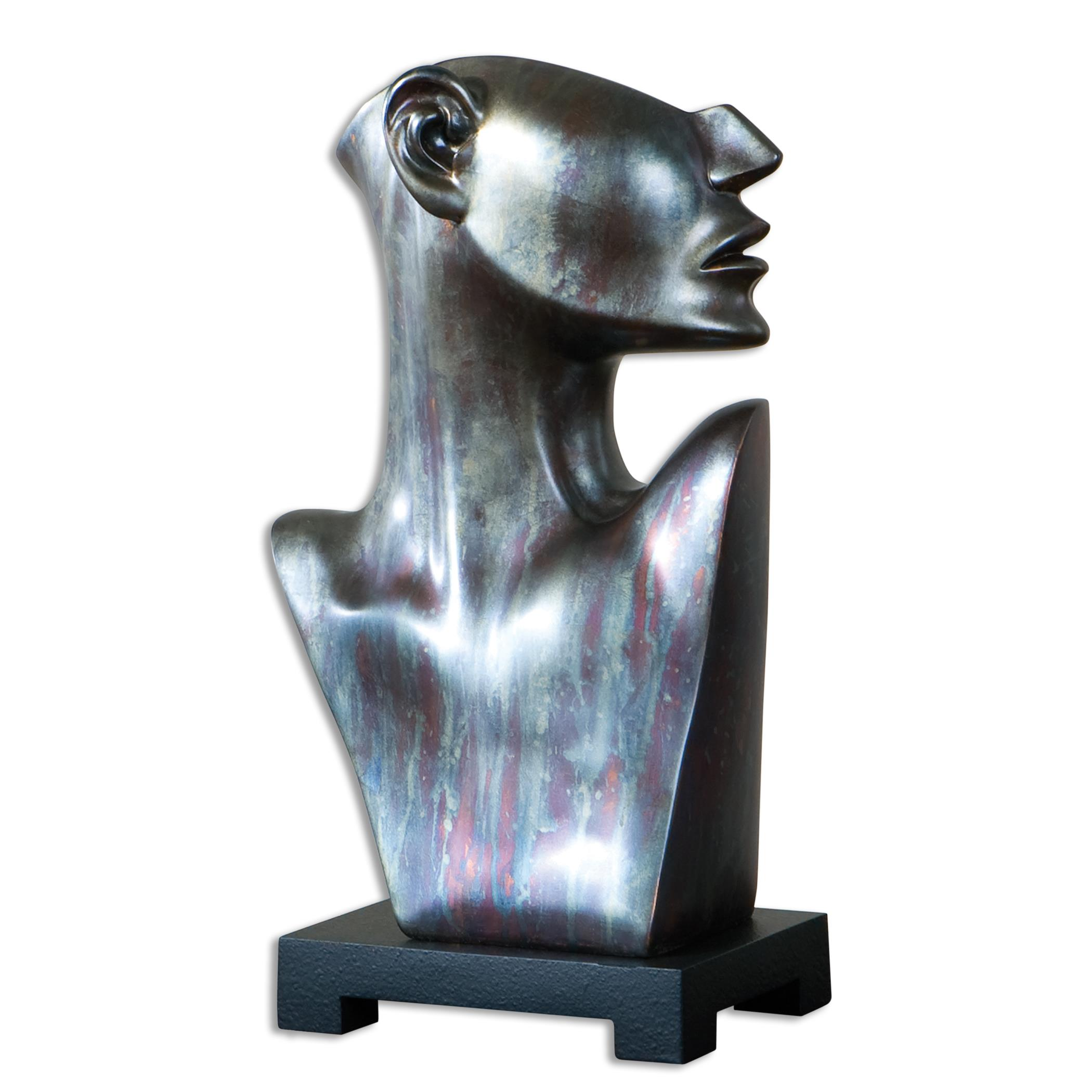 Uttermost Accessories My Good Side Bronze Sculpture - Item Number: 19933
