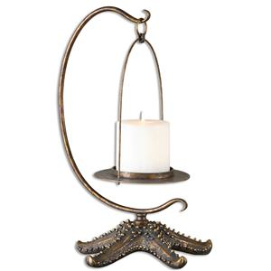 Uttermost Accessories Starfish Antiqued Gold Candleholder