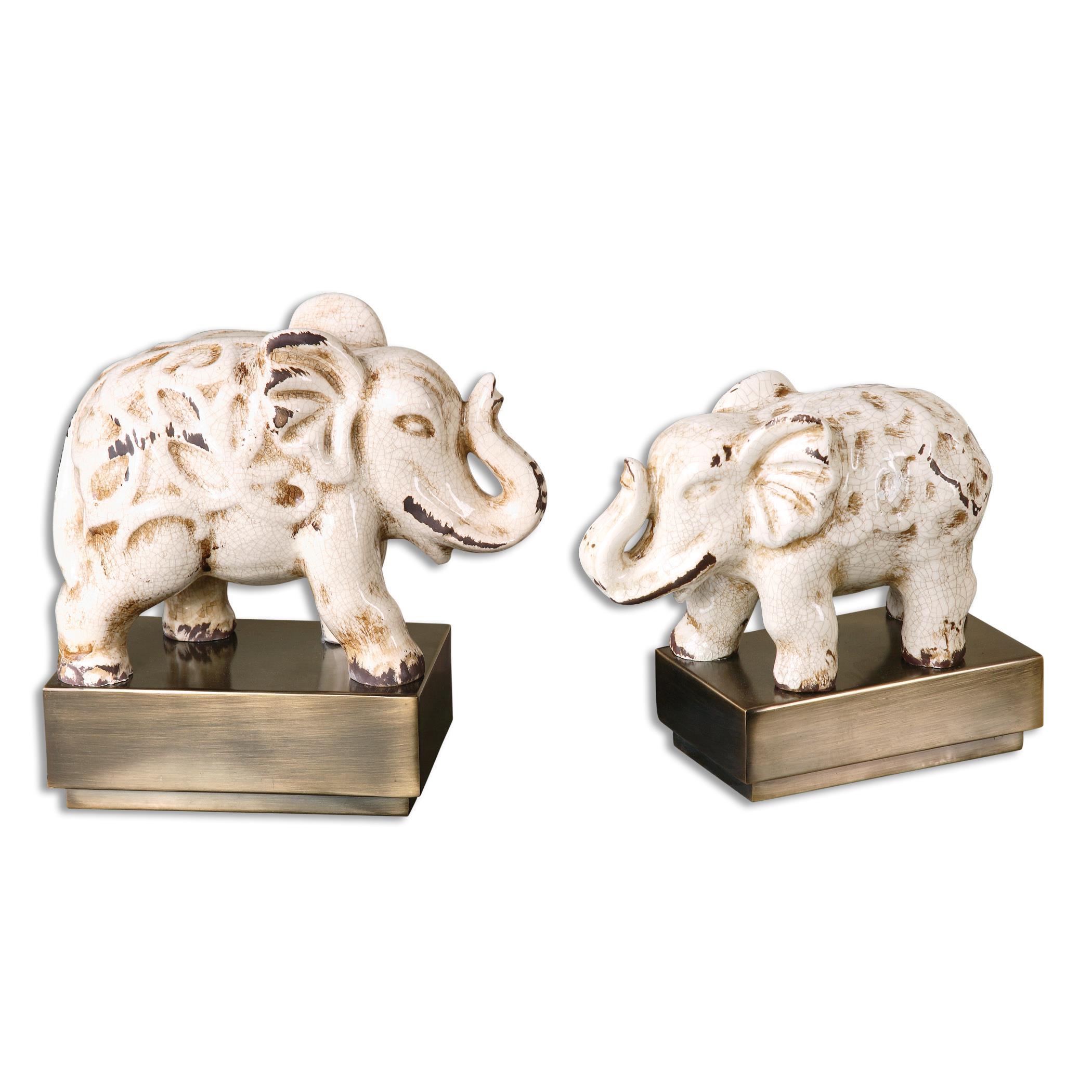 Uttermost Accessories Maven Elephant Sculptures, S/2 - Item Number: 19949