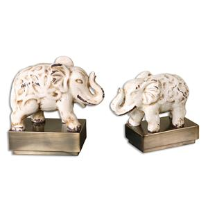 Uttermost Accessories Maven Elephant Sculptures, S/2