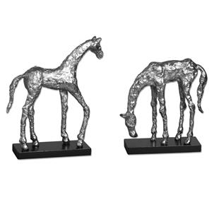 Uttermost Accessories Let's Graze Horse Statues, S/2