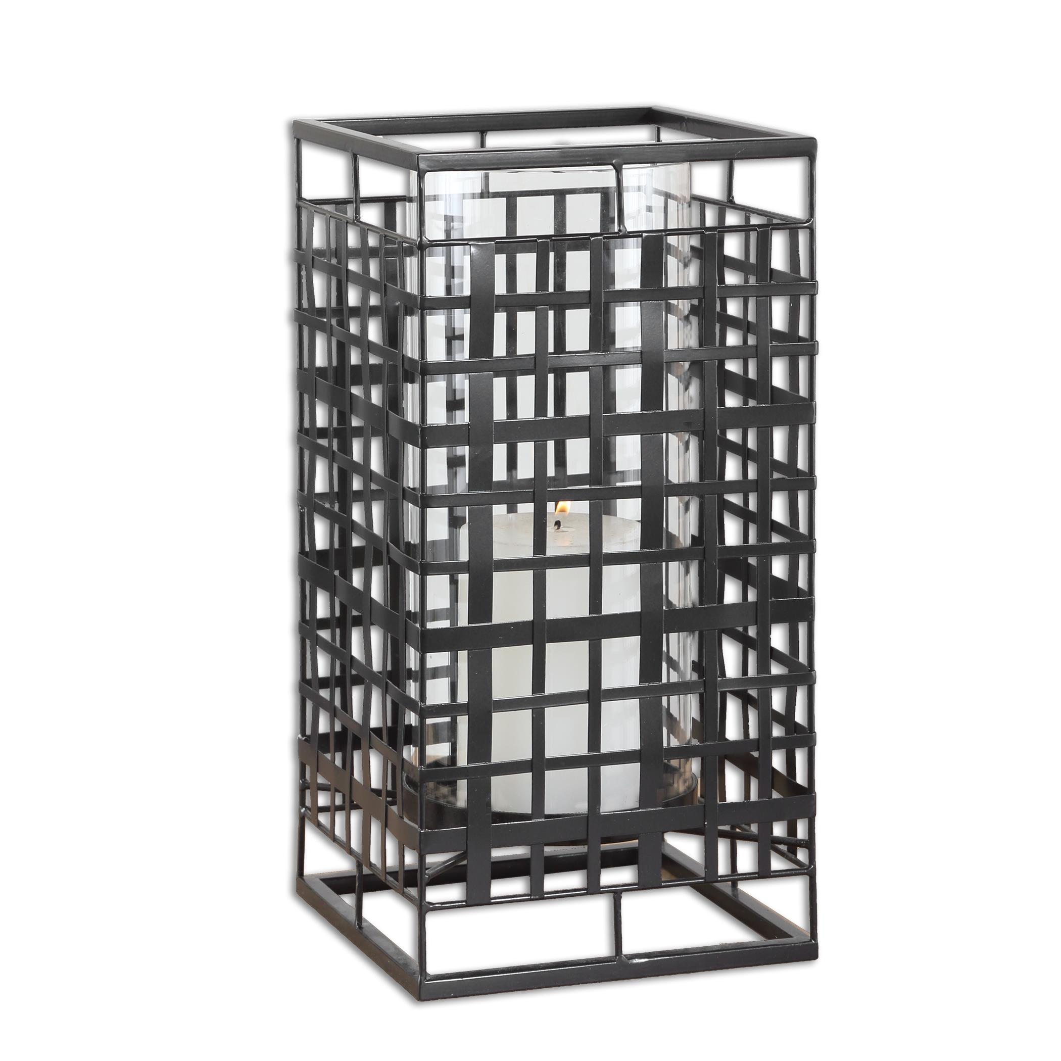 Uttermost Accessories Caged In Metal Candleholder - Item Number: 19973