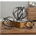 Uttermost Accessories Stetson Bronze Spheres S/3