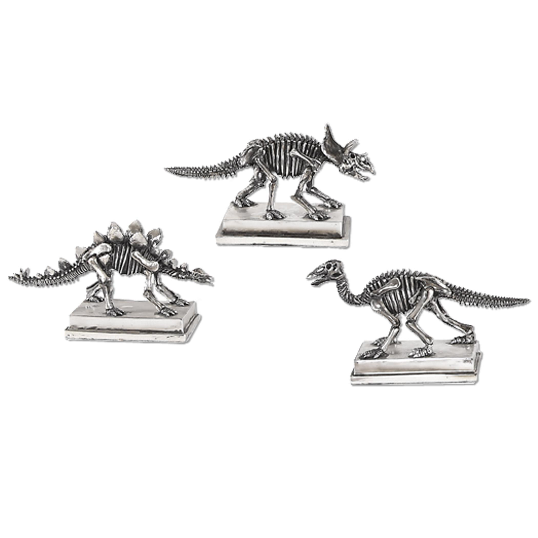 Uttermost Accessories Jurassic Silver Figures, S/3 - Item Number: 19981