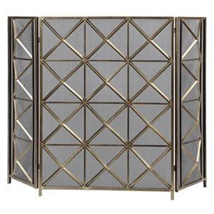 Uttermost Accessories Akiva Champagne Fireplace Screen