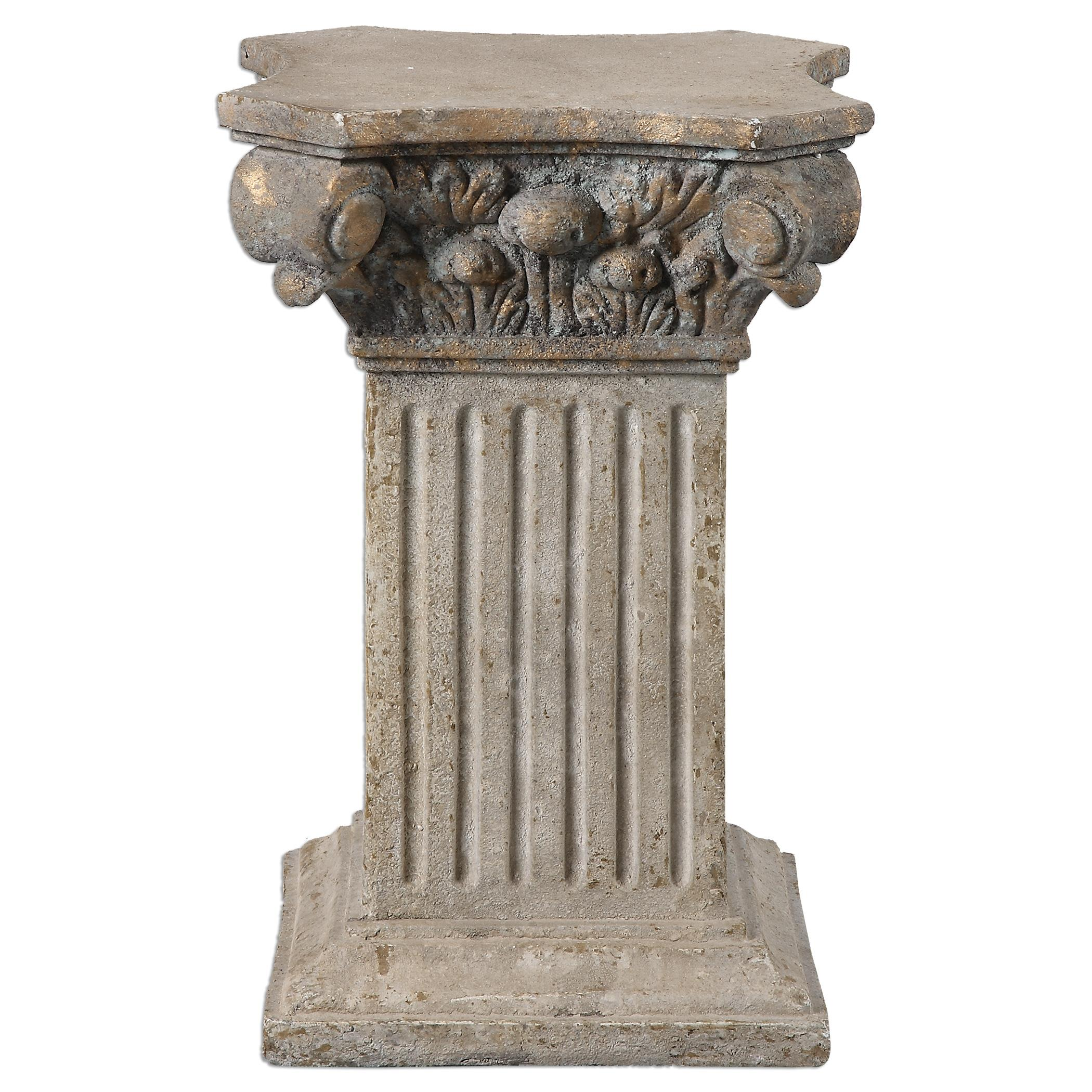 Uttermost Accessories Alben Aged Ivory Plinth - Item Number: 19987