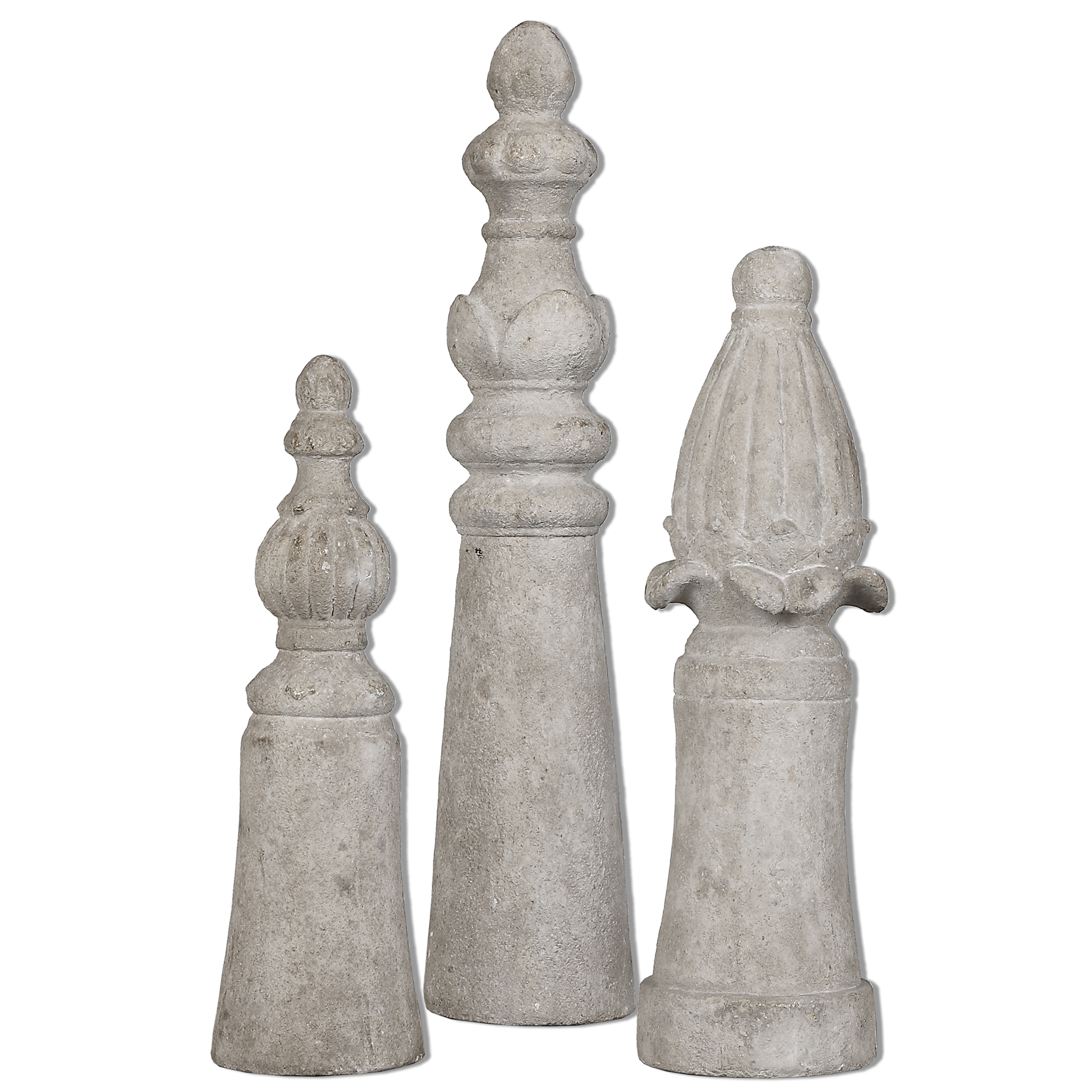 Uttermost Accessories Asmund Aged Ivory Finials S/3 - Item Number: 19988