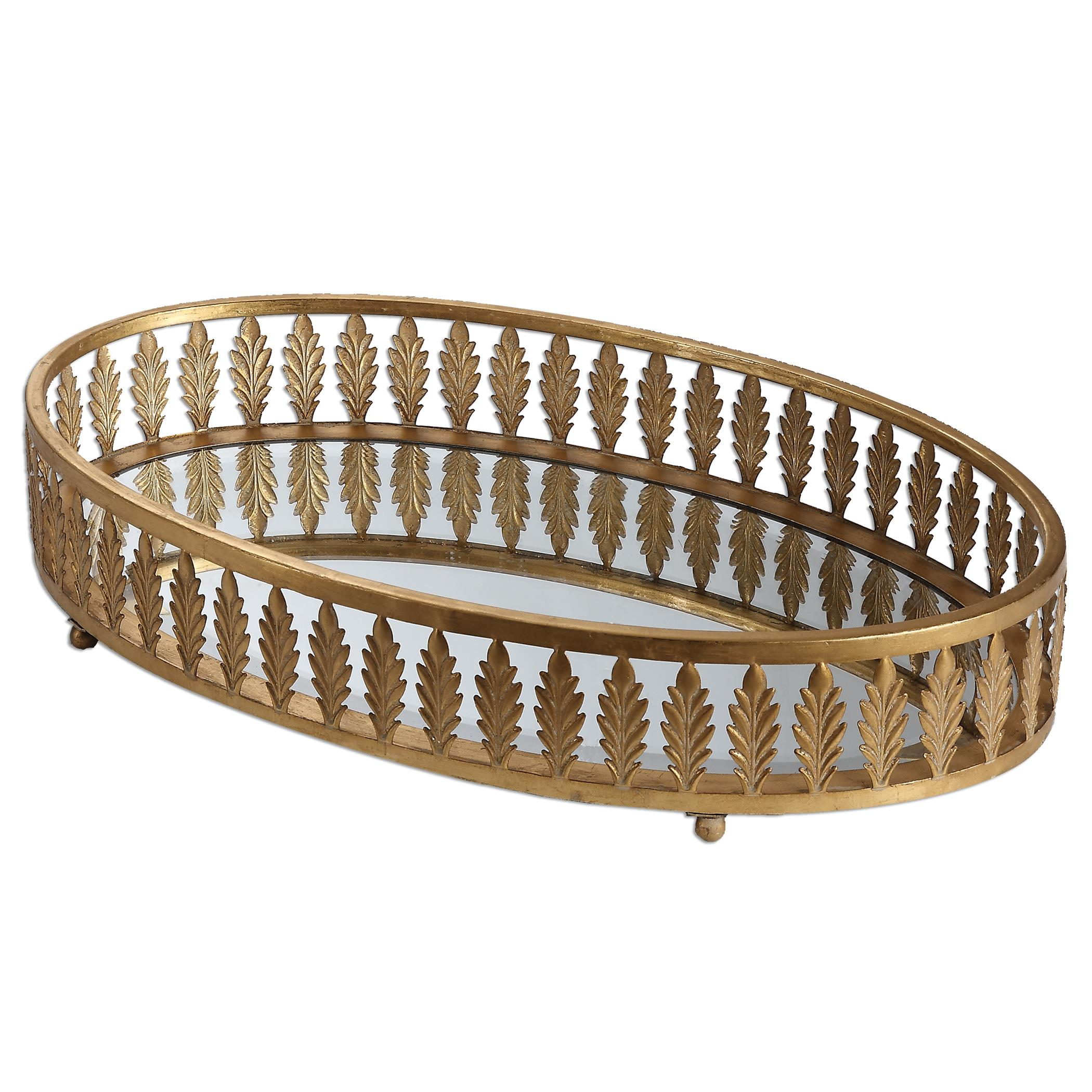 Uttermost Accessories Bevan Gold Oval Tray - Item Number: 19991