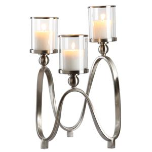 Uttermost Accessories Akiro Modern Nickel Candelabra